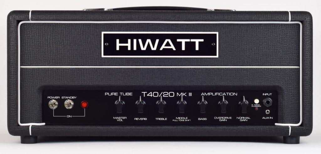 testata per chitarra elettrica amplificatore hiwatt tube40/20 MkIII